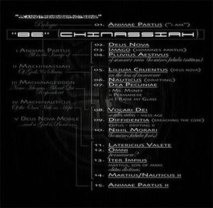 BE (Pain of Salvation album) - As is evident by the list to the left, the track listing and structure of the album are very detailed and confusing. This actual album image describing the album may help to understand it.