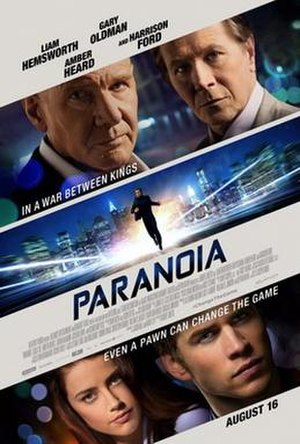Paranoia (2013 film) - Theatrical release poster