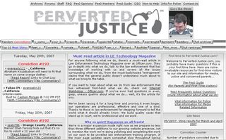 Perverted-Justice American organisation that assists the authorities in catching pedophiles