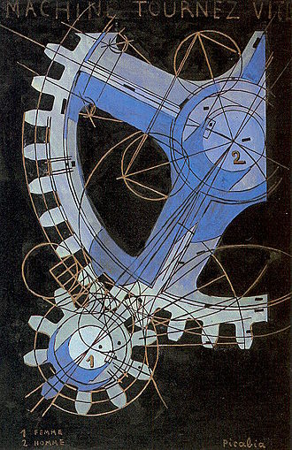 Francis Picabia - Machine Turn Quickly, 1916-1918, tempera on paper, National Gallery of Art