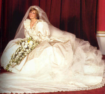 The Princess of Wales on her wedding day