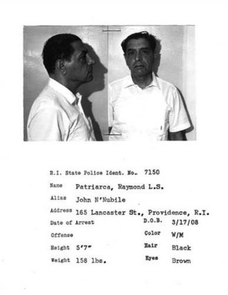 Raymond L. S. Patriarca - Patriarca's Rhode Island State Police I.D. photo