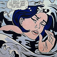 Drowning Girl (1963). On display at the Museum of Modern Art, New York.