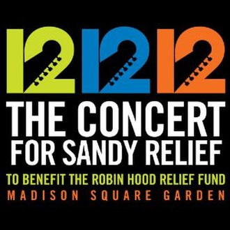 12-12-12: The Concert for Sandy Relief (album) - Image: Sandy Relief Album Cover
