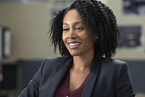 Misty Knight - Simone Missick as Misty Knight in the television series, Luke Cage.