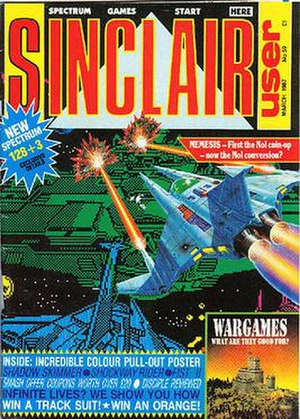 Sinclair User - Cover of Sinclair User from 1987