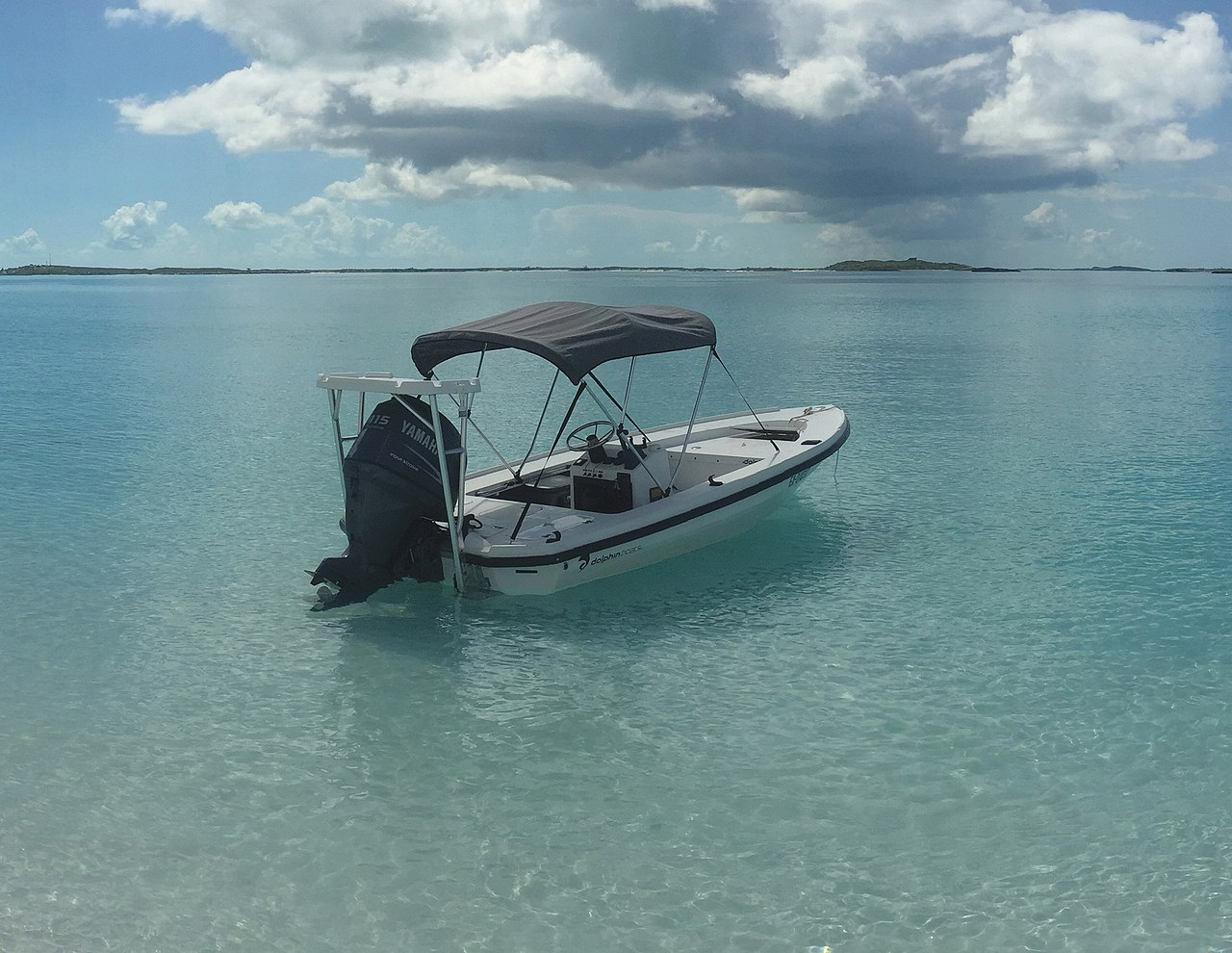 Download File Small Center Console Fishing Boat Anchored Near A Beach In The Bahamas Jpg Wikipedia
