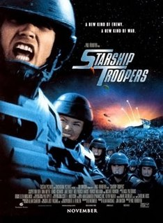 <i>Starship Troopers</i> (film) 1997 military science fiction movie directed by Paul Verhoeven