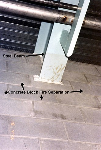 Penetrant (mechanical, electrical, or structural) - Image: Steel beam penetration