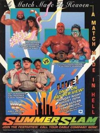 SummerSlam (1991) - Promotional poster