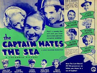 <i>The Captain Hates the Sea</i> 1934 film by Lewis Milestone