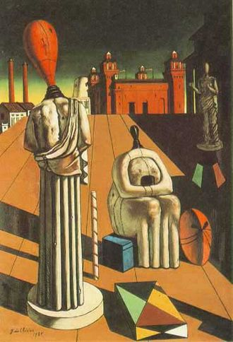 Metaphysical art - The Disquieting Muses by Giorgio de Chirico