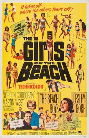 The Girls on the Beach - Image: The Girls on the Beach poster