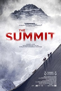 <i>The Summit</i> (2012 film) 2012 documentary film about the 2008 K2 disaster directed by Nick Ryan