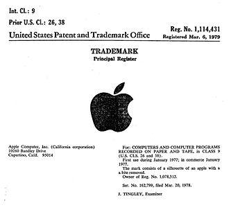 United States trademark law - Registration for Apple Computer Logo