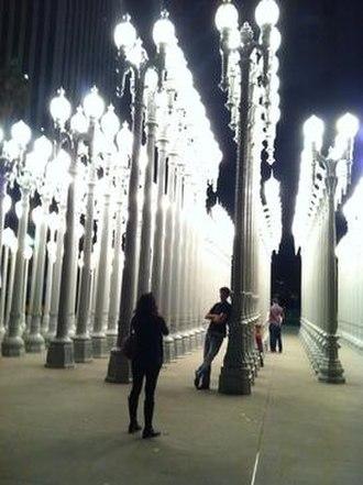 Urban Light - The Urban Light installation at night