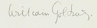 William Golding - Image: William Golding signature