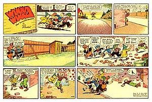 Winnie Winkle - Martin Branner's Winnie Winkle (April 25, 1943).