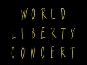 World Liberty Concert - Image: World Liberty Concert logo, as broadcasted live May 1995