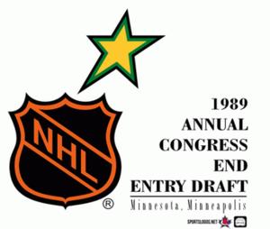 1989 NHL Entry Draft - Image: 1989 NHL Draft logo