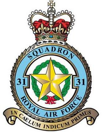 No. 31 Squadron RAF - 31 Squadron badge