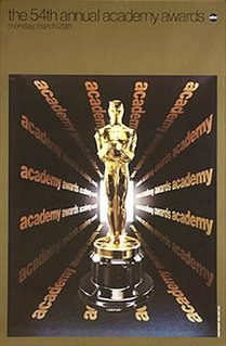 54th Academy Awards awards presented March 29, 1982