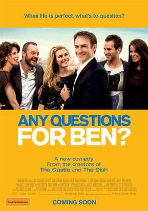 Any Questions for Ben? - Image: Any Questions for ben?, Australian Film Poster, Feb 2012