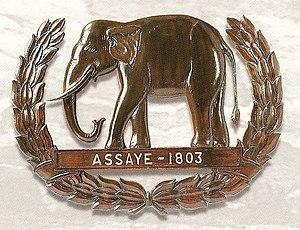 Battle of Assaye - Assaye elephant emblem awarded to the Madras Sappers