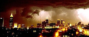 2008 Atlanta tornado outbreak - Image: Atlanta tornado