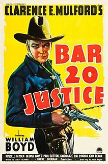 <i>Bar 20 Justice</i> 1938 film by Lesley Selander