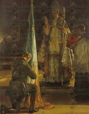 Flag of Ireland - Blessing of the Colours by John Lavery