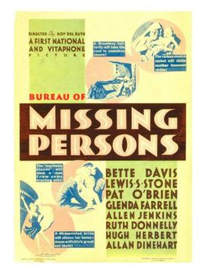 Bureau of Missing Persons - Theatrical release poster