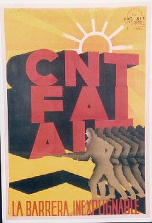 Anarchism in Spain - A poster from the 1930s.