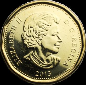 Loonie - Image: Canadian Dollar obverse