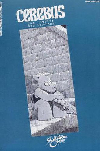 Cerebus the Aardvark - Cover to Cerebus issues 112 and 113, from 1988 by Dave Sim and Gerhard