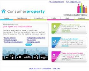 National Consumer Agency - Image: Consumer Property.ie screenshot