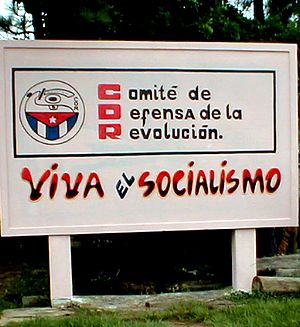 "Committees for the Defense of the Revolution - ""Long Live Socialism"" CDR billboard in countryside on the way from Havana to Pinar del Río."