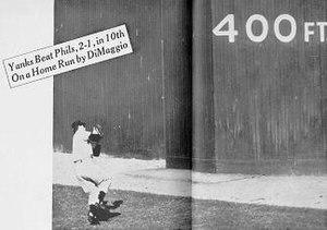 1950 World Series - Joe DiMaggio catches Del Ennis' deep fly
