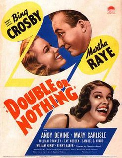 <i>Double or Nothing</i> (1937 film) 1937 musical comedy film