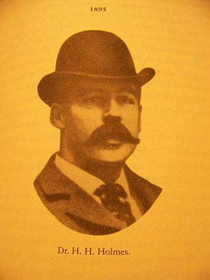 1895 newspaper image of Dr. Henry Howard Holmes