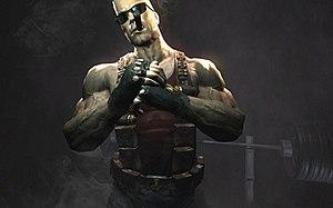 Development of Duke Nukem Forever - Duke Nukem Forever developers released this promotional image in 2007, to reinvigorate attention to the stalled game.