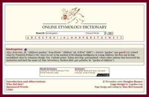 Online Etymology Dictionary - Image: Etymonline