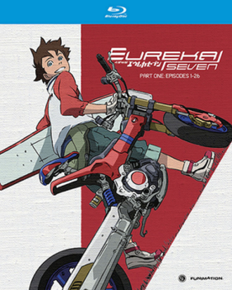 Eureka Seven - Cover of the first Blu-ray compilation released by Funimation in North America, featuring Renton Thurston.
