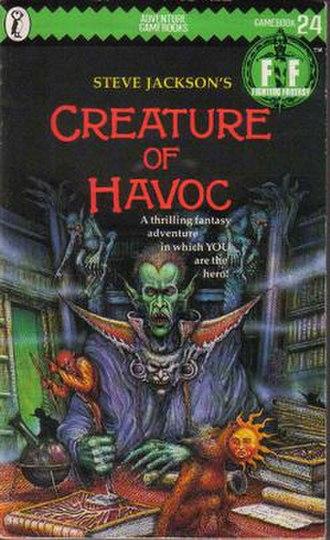 Creature of Havoc - The original Puffin Books cover of Creature of Havoc