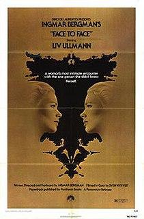 <i>Face to Face</i> (1976 film) 1976 Swedish psychological drama film by Ingmar Bergman