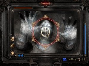 Fatal Frame III: The Tormented - A typical battle in Fatal Frame III