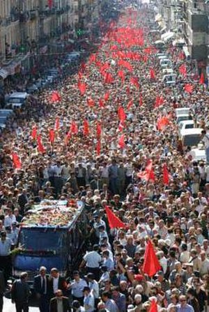 History of the Portuguese Communist Party - Funeral of Álvaro Cunhal in Lisbon
