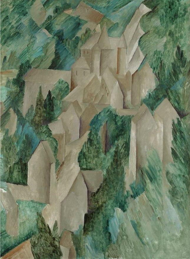 Georges Braque, 1909, La Roche-Guyon, le château (The Castle at Roche-Guyon), oil on canvas, 80 x 59.5 cm, Moderna Museet, Stockholm
