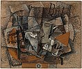 Georges Braque, 1913-14, Still Life on a Table (Duo pour Flute), oil on canvas, 45.7 × 55.2 cm, Lauder Cubist Collection, Metropolitan Museum of Art.jpg