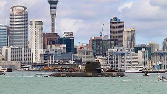 HMAS Dechaineux (SSG 76) - Image: HMAS Dechaineux, Auckland 2016